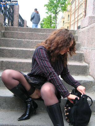 Amateurs flashing in public